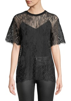 IRO Candle Lace Crewneck Top