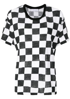 IRO check short-sleeve T-shirt