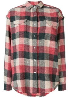 IRO checked button-down shirt
