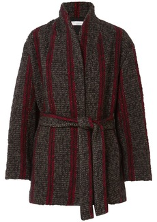IRO Circus Belted Striped Wool-blend Coat