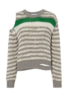 IRO Cold Shoulder Striped Sweater