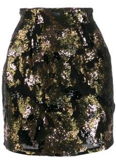 IRO contrast sequin mini-skirt