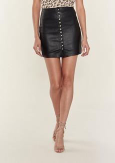 IRO Costa Leather Mini Skirt