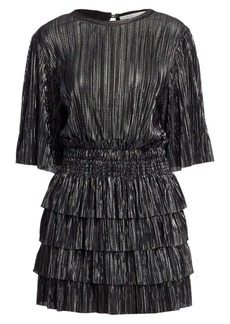 IRO Cuszco Pleated Stripe Blouson Dress