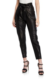 IRO Davins High-Rise Leather Pants