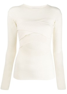 IRO Denny criss-cross front sweater