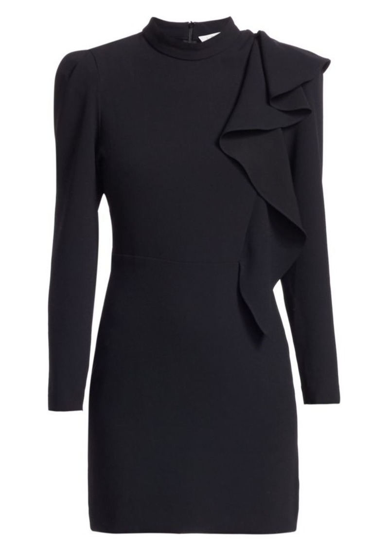 IRO Deteo Long-Sleeve Ruffle Mini Dress