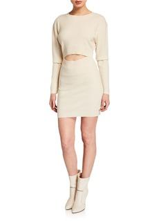 IRO Devlin Wool-Cashmere Cutout Dress