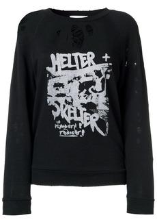 IRO distressed printed sweatshirt