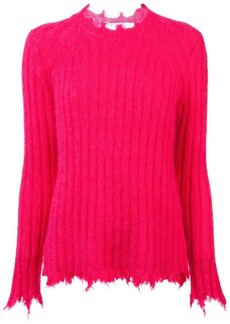 IRO distressed ribbed knit sweater