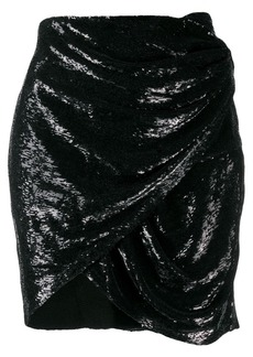 IRO draped mini skirt
