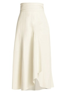 IRO Eloge Leather Midi Skirt