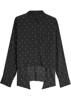 IRO Embroidered Shirt with High-low Hem