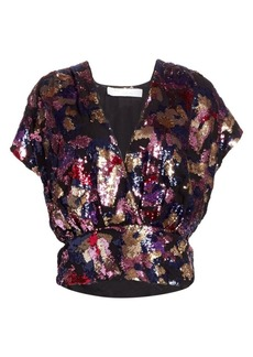 IRO Eskie Sequin Wrap Top