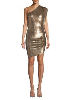 IRO Exciter Sequin One-Shoulder Mini Dress