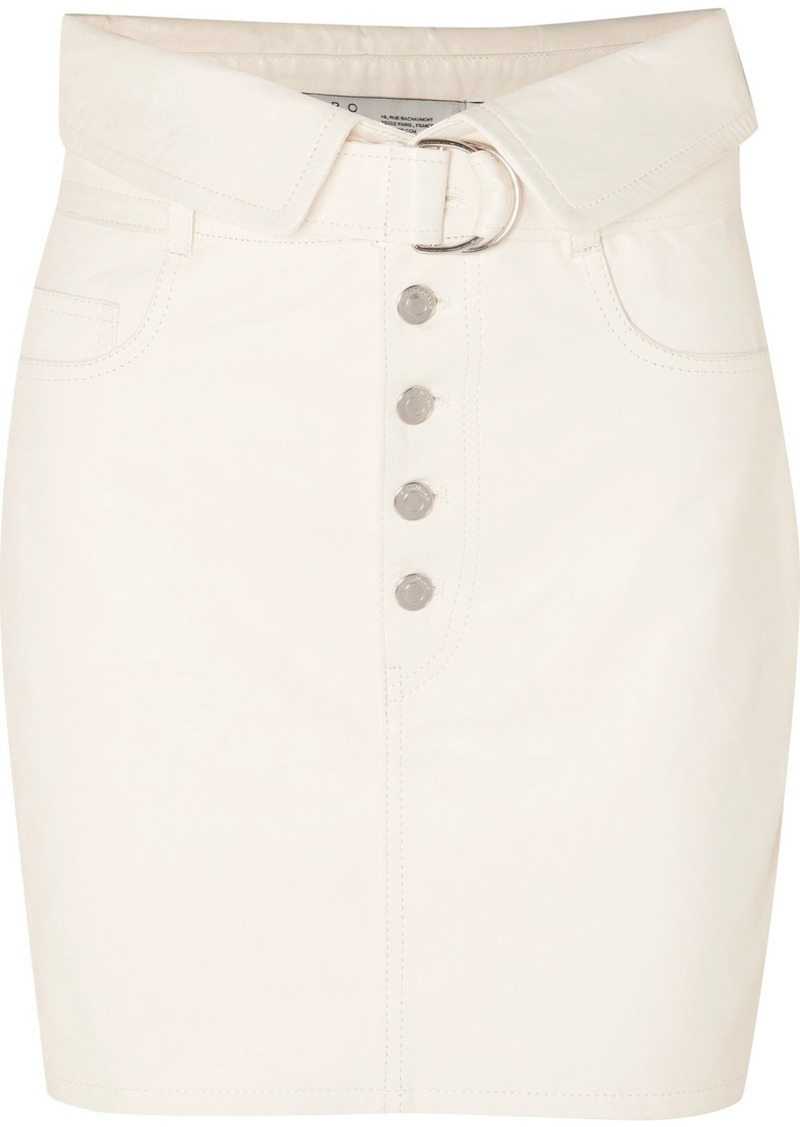 IRO Fabra Leather Mini Skirt