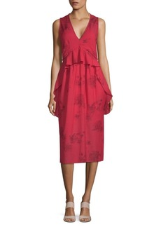 IRO Favril Floral Midi Dress