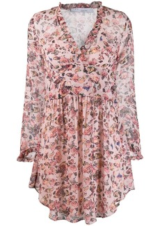 IRO floral flared dress