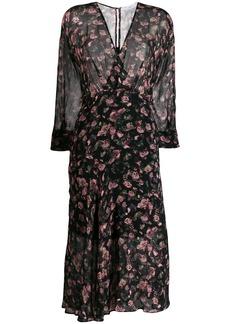 IRO floral flared midi dress
