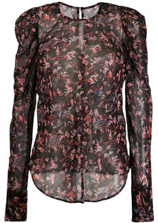 IRO floral print long-sleeve top