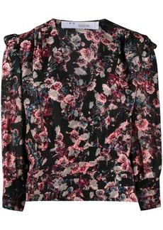 IRO floral print silk top