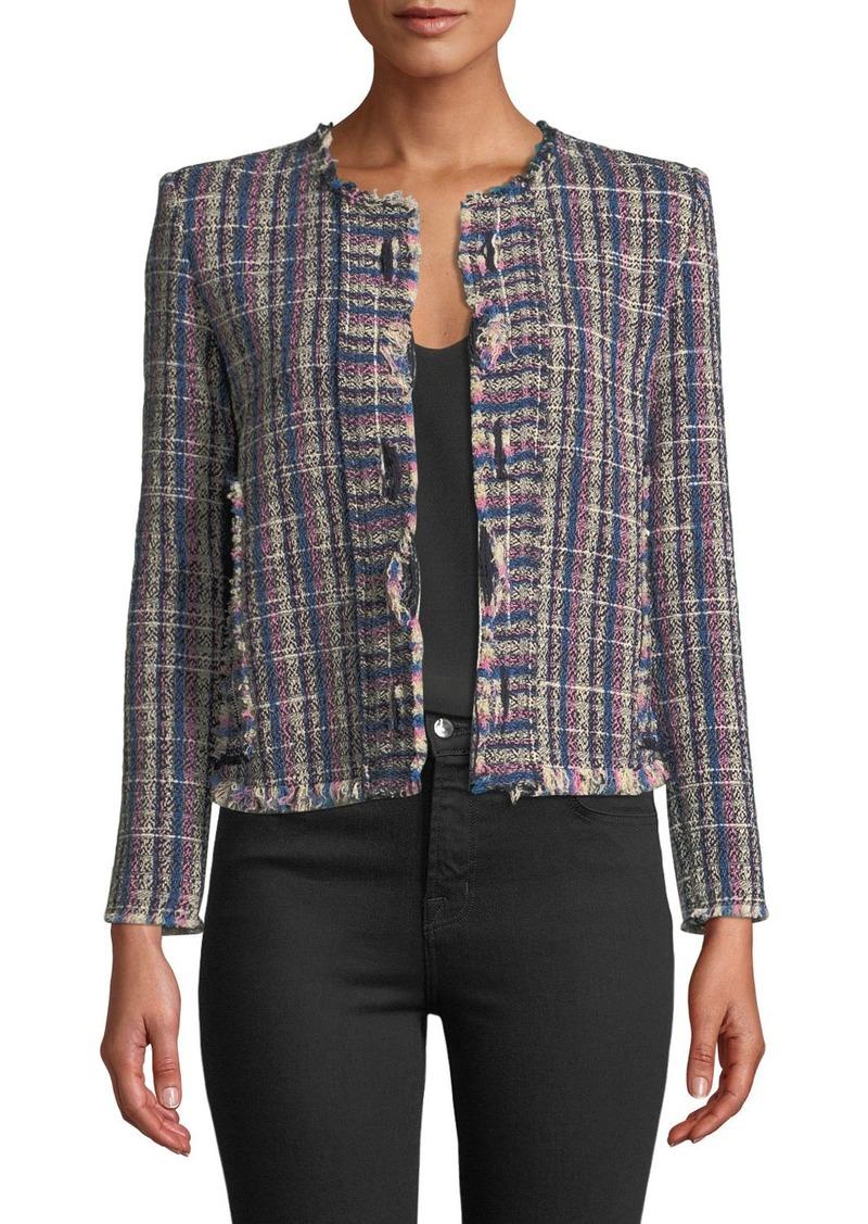 IRO Frannie Collarless Tweed Jacket