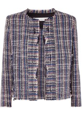 IRO Frannie Distressed Cotton-blend Tweed Jacket