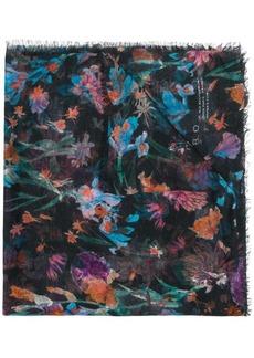 IRO frayed hem printed scarf