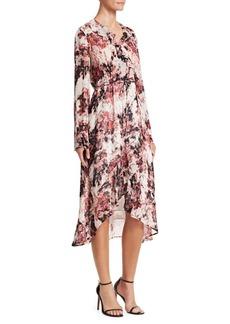 IRO Garden Ruffle Wrap Dress