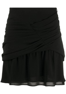 IRO gathered chiffon mini skirt