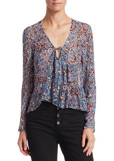IRO Gosh V-Neck Ruffle Blouse