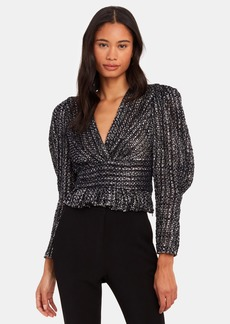 IRO Guarda Metallic Tweed Top