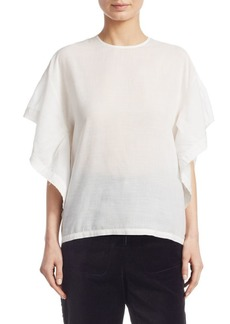 IRO Hail Ruffle Sleeve Top