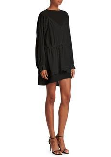 IRO Hassel Silk Lace High-Low Dress