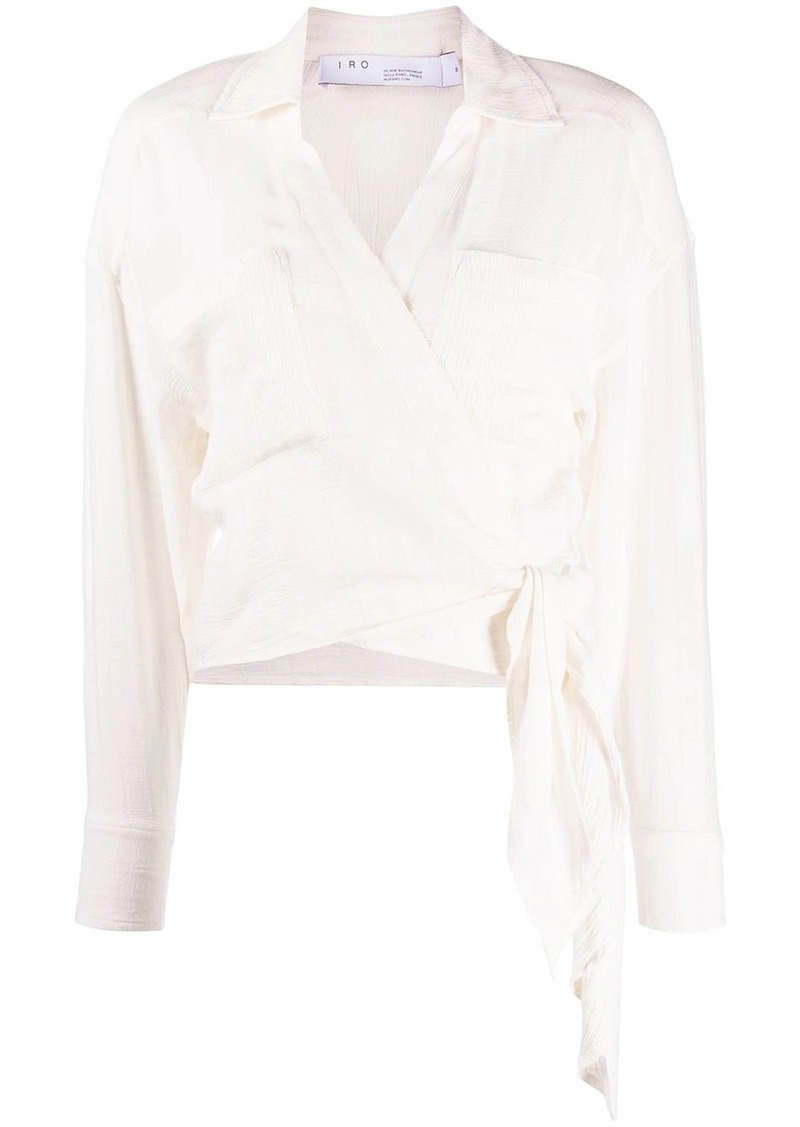 IRO hem-knot wrap blouse