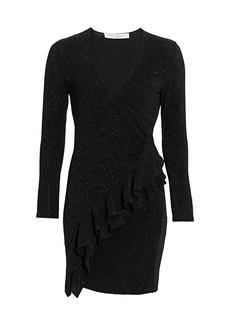 IRO Hime V-Neck Sparkle Wrap Dress