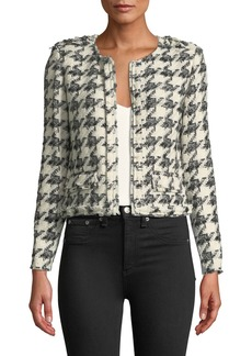 IRO Hope Strong-Shoulder Cropped Tweed Jacket