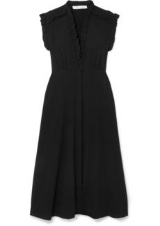 IRO Hurray Ruffled Stretch-crepe Midi Dress