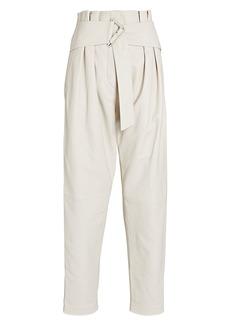 IRO Husvik Leather Paperbag Pants