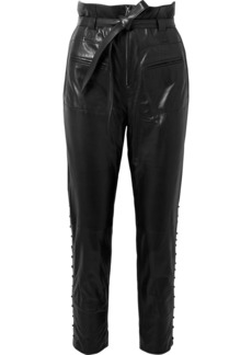 IRO Instinct Belted Leather Tapered Pants