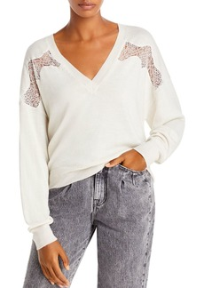 IRO Alto Merino Wool Lace Trim Sweater