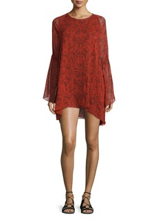 Iro Appoline Long-Sleeve Damask Shift Dress