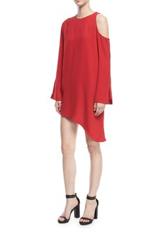 IRO Awati Cutout-Shoulder Shift Dress