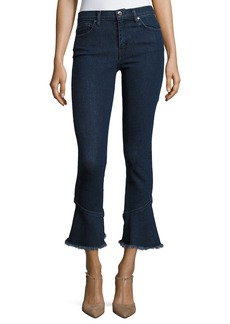 Iro Berry Mid-Rise Flared Denim Jeans
