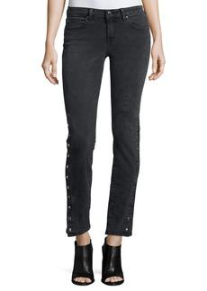 Iro Biba Side-Snap Skinny Jeans  Black