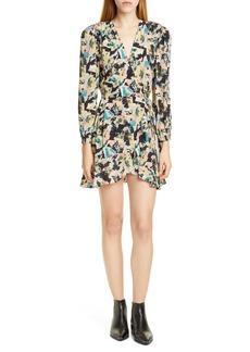 IRO Bloomy Long Sleeve Wrap Minidress