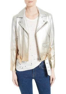 IRO Calum Metallic Leather Jacket