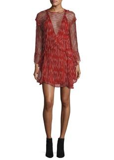 Iro Canyon Long-Sleeve Ruffled Dress