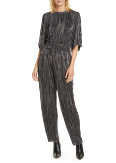 IRO Chimbote Pleated Metallic Jumpsuit
