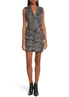 IRO Corie Metallic Fil Coupé Dress